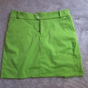 Ralph Lauren lime green golf skirt